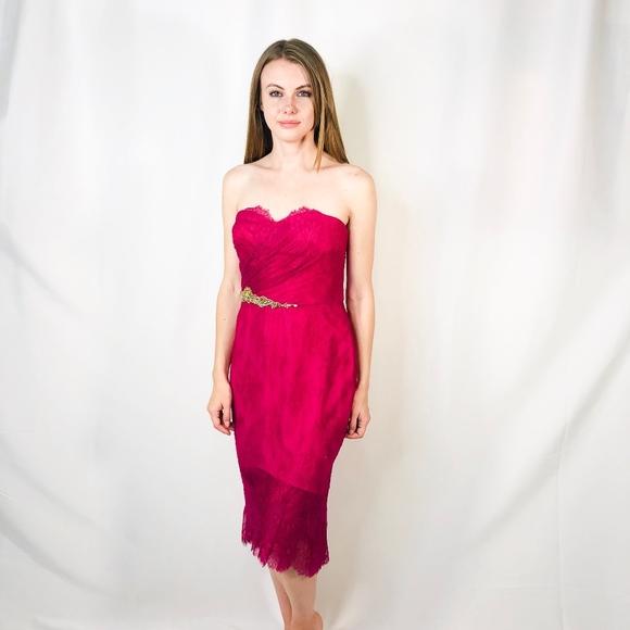 28fdec5ce8 Marchesa Dresses | Notte Nwt Fuchsia Embellished Dress 0265 | Poshmark
